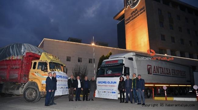 Antalya iş dünyası Elazığ için seferber oldu