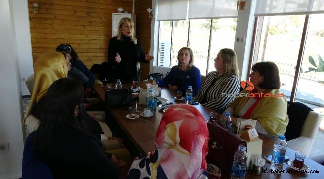 Kadın Muhtarlar Derneği Başkanı Antalya'da