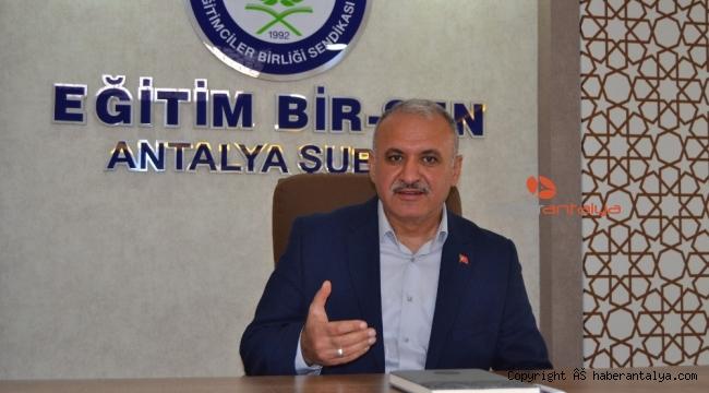 """Eğitim Bir Sen Antalya Şube Başkanı Miran: """"28 Şubat hesaplaşması devam etmeli"""""""