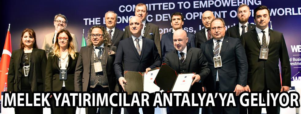 Melek yatırımcılar Antalya'ya geliyor