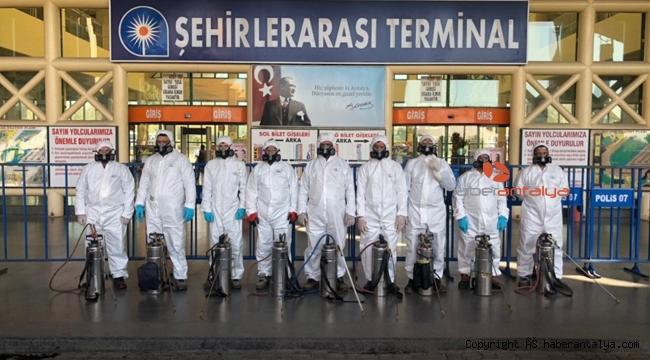 ANTALYA'DA DEZENFEKTE SEFERBERLİĞİ !