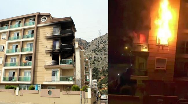 Lüks rezidansta ağlatan yangın