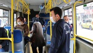 Toplu taşımada 'korona' denetimi