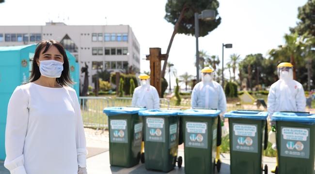 Alanya Belediyesinden atık maske ve eldivene önlem !