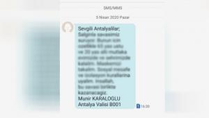 Vali'den SMS !