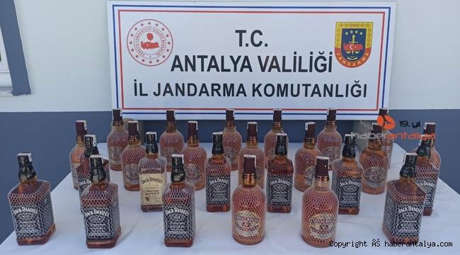 25 litre sahte içki ele geçirildi