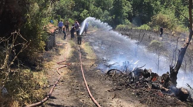 Alanya'da bahçe yangını