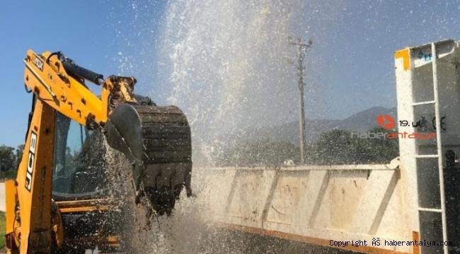 ASAT'tan Finike'deki su arızasına müdahale