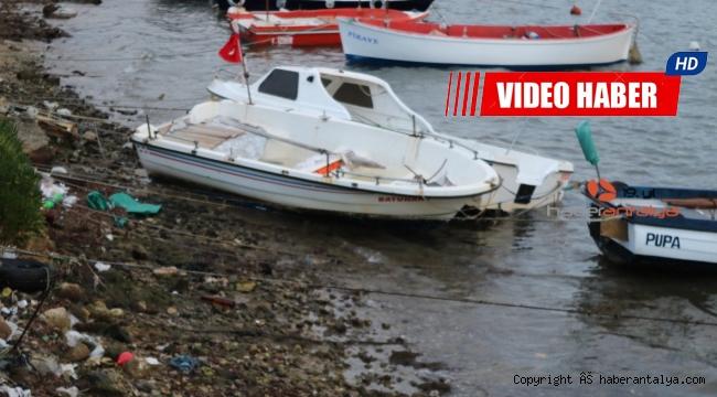 Fırtına, güneş panellerini söktü, teknelerin halatlarını kopardı