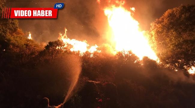 Kaş'taki orman yangını kontrol altına alındı !