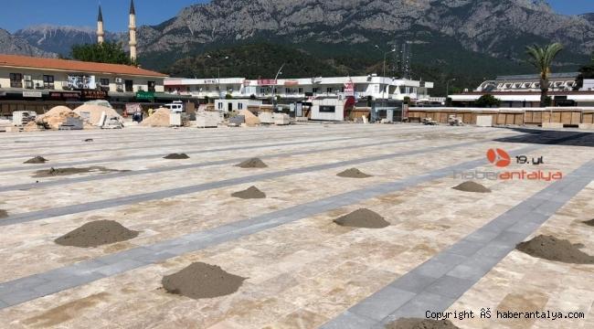 Kemer Cumhuriyet Meydanı Projesinde sona gelindi