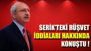Kılıçdaroğlu'ndan Serik'teki '500 bin liralık rüşvet' iddiaları hakkında açıklama