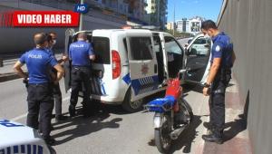 Polisten kaçan çift, motosiklet ele verdi !