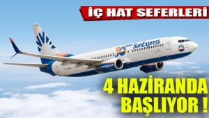 SunExpress, 4 Haziran'da iç hat uçuşlarına başlıyor