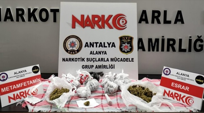 Alanya'da zehir tacirleri polisten kaçamadı !