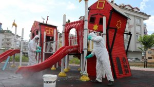 Alanya'da parklar çocuklar ve gençler için hazırlanıyor