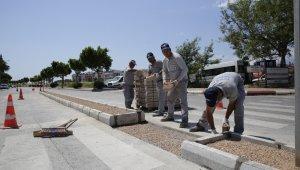 Atatürk Bulvarında düzenleme ve genişletme çalışmaları