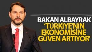Bakan Albayrak: 'Türkiye'nin ekonomisine güven artıyor'