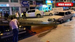 Polisten kaçarken polis aracına çarptı !