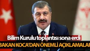 Sağlık Bakanı Koca'dan önemli açıklamalar