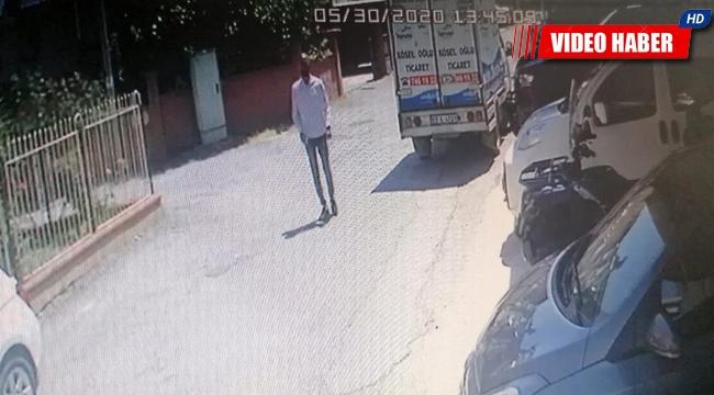 Su dağıtıcısının motosikletini, tüp dağıtıcısının cep telefonunu çaldı ! Yakalanma anı kameralarda