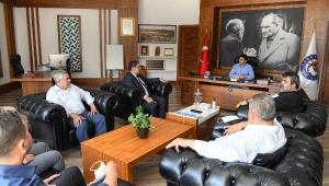 AESOB Başkanı Dere'den Başkan Kocakaya'ya teşekkür ziyareti