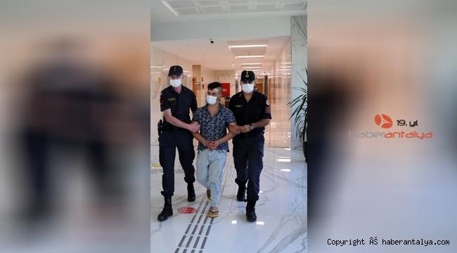 Alanya'da sigara hırsızı tutuklandı