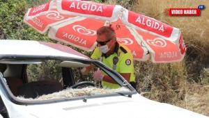 Antalya'da aşırı sıcaklar polislere ilginç çözümler ürettirdi !