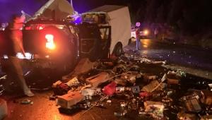 Antalya'da feci kaza: 2 ölü, 4 yaralı
