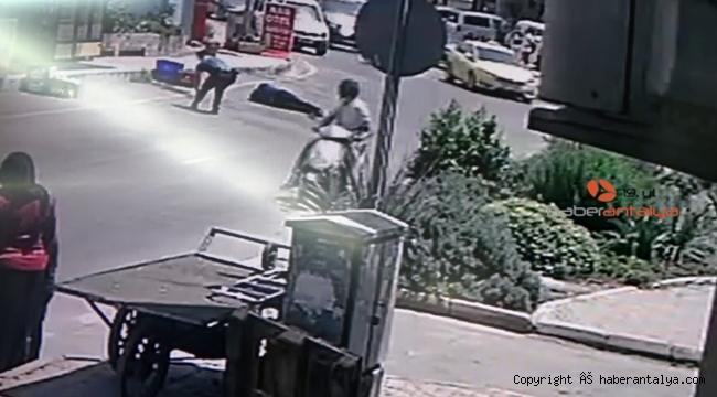 Antalya'daki çatışma anı kameralarda !