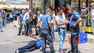 Antalya sokaklarında korku dolu anlar. Polisleri bıçakladılar !