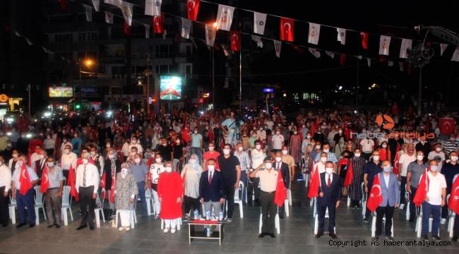 Antalya'da 15 Temmuz anması