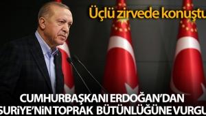 Cumhurbaşkanı Erdoğan, 'Türkiye-Rusya-İran Üçlü Zirvesi'nde konuştu