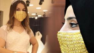 Gelinler için altın işlemeli maske üretildi, fiyatları ise 'yok artık' dedirtti !