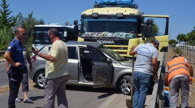 Serik'te trafik kazası 1 YARALI !