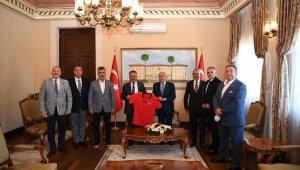 TFF Başkanı Nihat Özdemir'den, Vali Yazıcı'ya Play Off maçları teşekkürü
