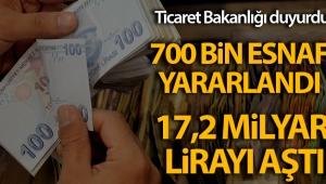 Ticaret Bakanlığı: ''Esnaf Destek Paketi'nden 700 bin esnaf yararlandı'