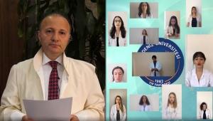 Tıp Fakültesi öğrencileri video konferansla Hipokrat yemini etti