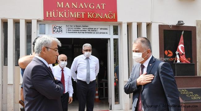 Vali Ersin Yazıcı Manavgat'ta