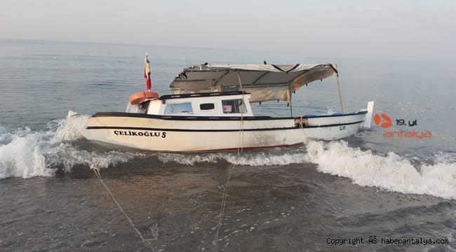 Denizde mahsur kalan balıkçı kurtarıldı