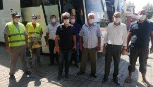 Manavgat'ta taksi ve toplu taşıma araçları dezenfekte ediliyor