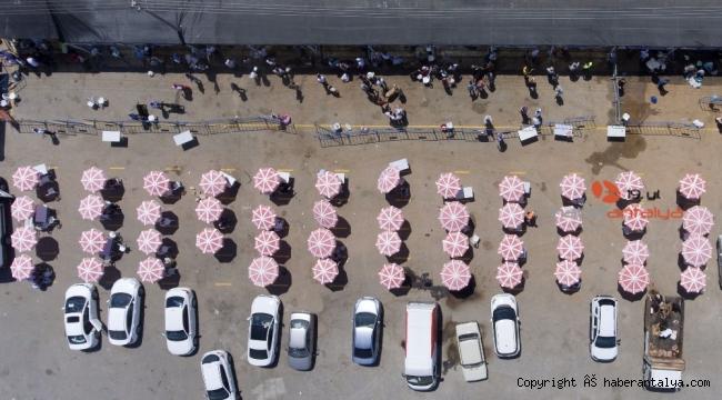 Muratpaşa'da kurban hizmeti bu şekilde fotoğraflandı