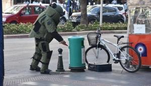 Yaya ve araç trafiğinin ortasında bomba paniği