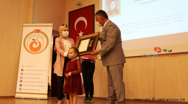 Antalya'da Devlet Övünç Madalyası töreni