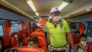 Antalya'da otobüs ve taksilere korona denetimi !