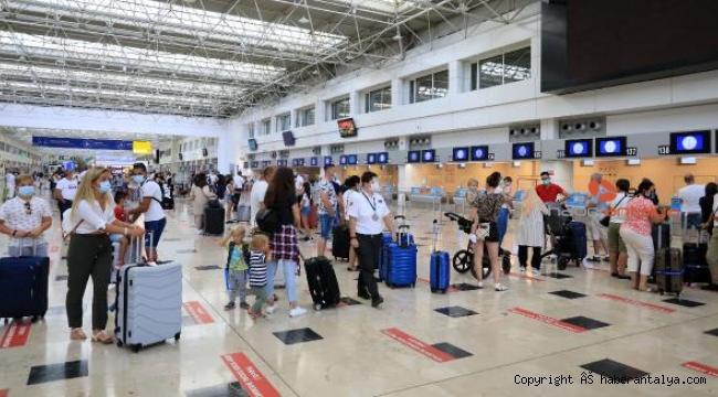 Antalya'ya bir ayda 11 bin uçuş