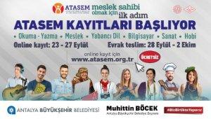 ATASEM'e online kayıtları 23 Eylül'de