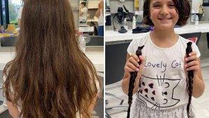 Küçük Özge'den 'Saçım saçın olsun' kampanyasına destek