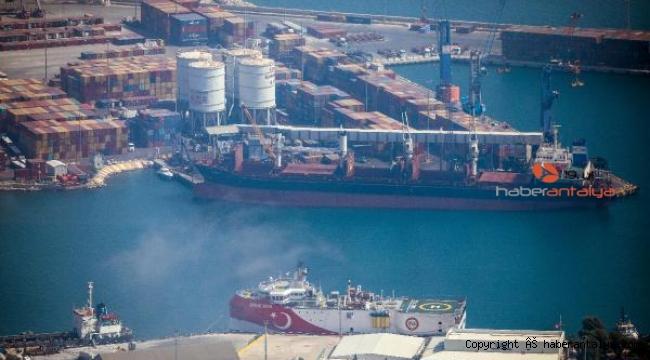 Oruç Reis, Antalya Limanı'nda ne yapıyor ?