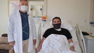 Pandemi döneminde güzel haber. Nefes darlığı yaşayan hasta şifa buldu